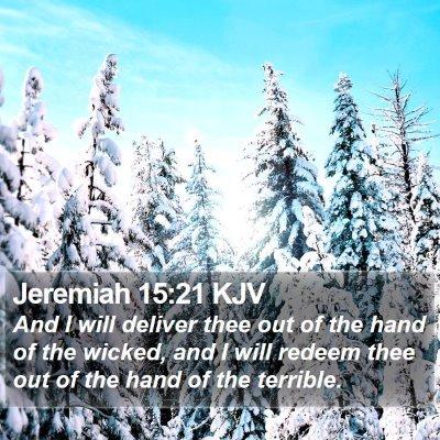 Jeremiah 15:21 KJV Bible Verse Image