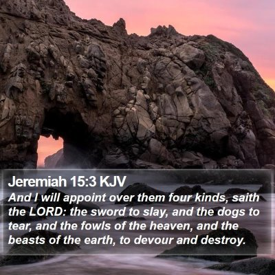 Jeremiah 15:3 KJV Bible Verse Image