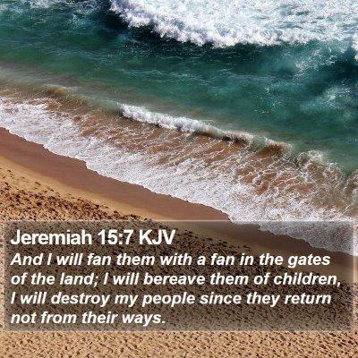 Jeremiah 15:7 KJV Bible Verse Image