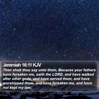 Jeremiah 16:11 KJV Bible Verse Image