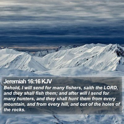 Jeremiah 16:16 KJV Bible Verse Image