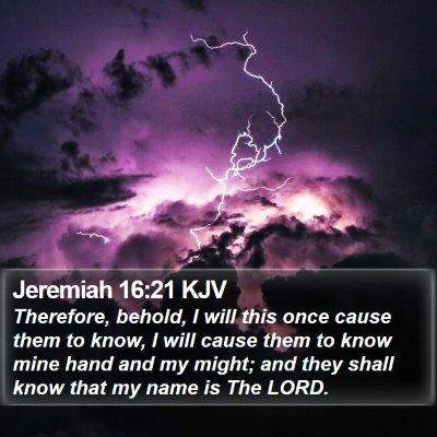 Jeremiah 16:21 KJV Bible Verse Image