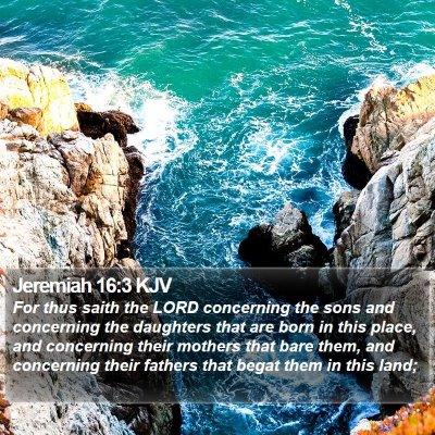 Jeremiah 16:3 KJV Bible Verse Image
