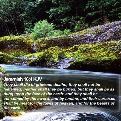 Jeremiah 16:4 KJV Bible Verse Image