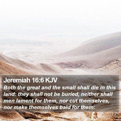 Jeremiah 16:6 KJV Bible Verse Image