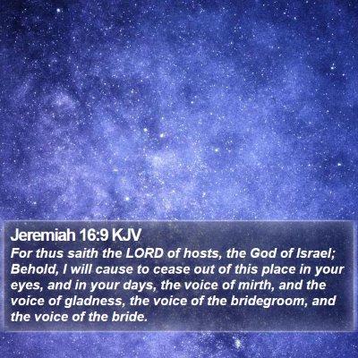 Jeremiah 16:9 KJV Bible Verse Image