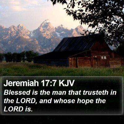 Jeremiah 17:7 KJV Bible Verse Image