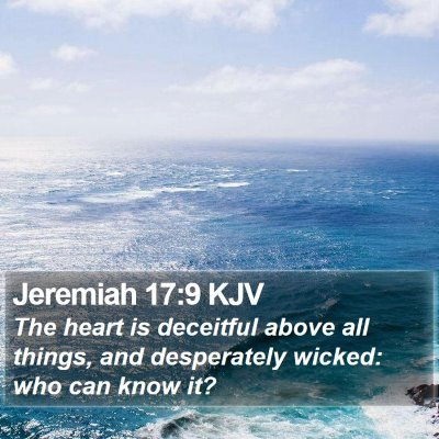 Jeremiah 17:9 KJV Bible Verse Image