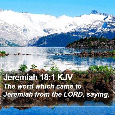Jeremiah 18:1 KJV Bible Verse Image