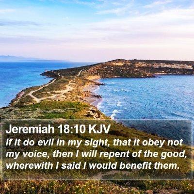 Jeremiah 18:10 KJV Bible Verse Image
