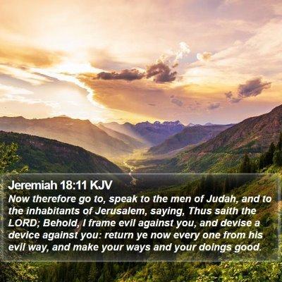 Jeremiah 18:11 KJV Bible Verse Image