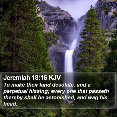 Jeremiah 18:16 KJV Bible Verse Image