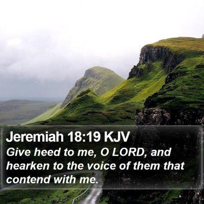 Jeremiah 18:19 KJV Bible Verse Image