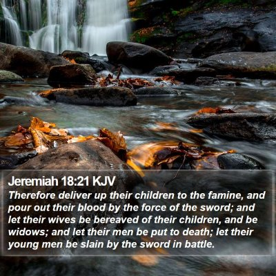 Jeremiah 18:21 KJV Bible Verse Image