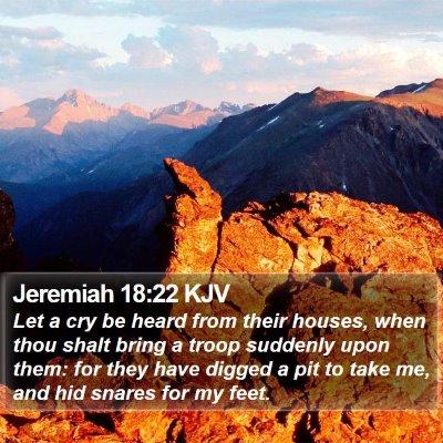 Jeremiah 18:22 KJV Bible Verse Image