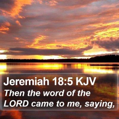 Jeremiah 18:5 KJV Bible Verse Image