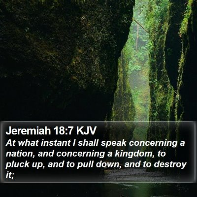 Jeremiah 18:7 KJV Bible Verse Image