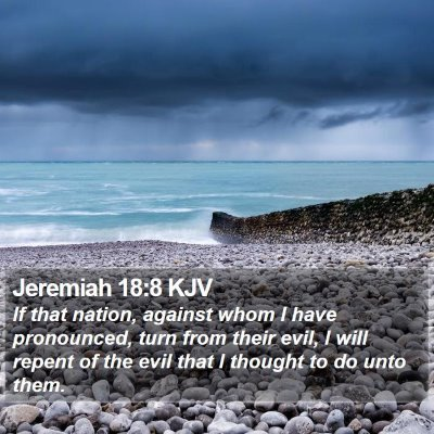 Jeremiah 18:8 KJV Bible Verse Image