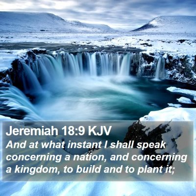 Jeremiah 18:9 KJV Bible Verse Image