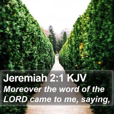 Jeremiah 2:1 KJV Bible Verse Image
