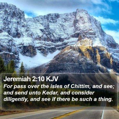 Jeremiah 2:10 KJV Bible Verse Image