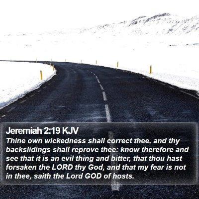 Jeremiah 2:19 KJV Bible Verse Image
