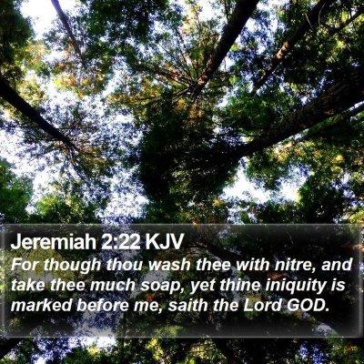 Jeremiah 2:22 KJV Bible Verse Image