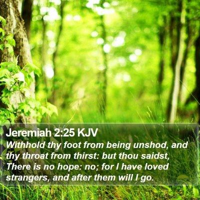 Jeremiah 2:25 KJV Bible Verse Image