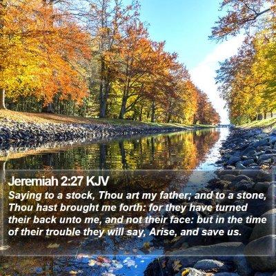 Jeremiah 2:27 KJV Bible Verse Image