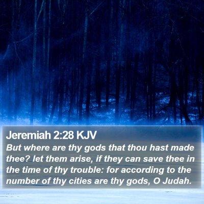 Jeremiah 2:28 KJV Bible Verse Image