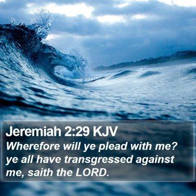 Jeremiah 2:29 KJV Bible Verse Image