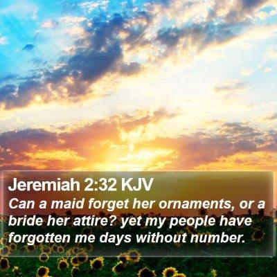 Jeremiah 2:32 KJV Bible Verse Image