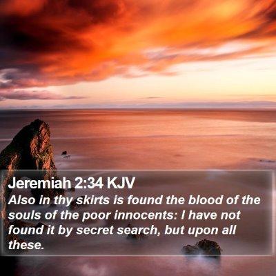 Jeremiah 2:34 KJV Bible Verse Image
