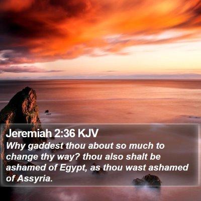 Jeremiah 2:36 KJV Bible Verse Image