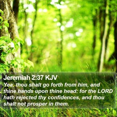Jeremiah 2:37 KJV Bible Verse Image
