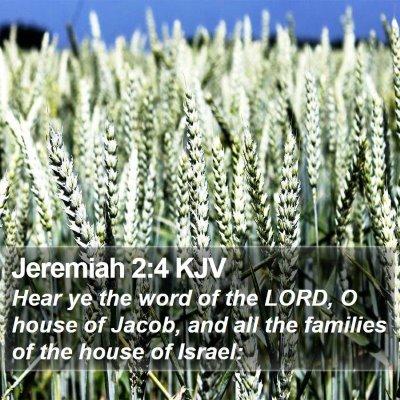 Jeremiah 2:4 KJV Bible Verse Image