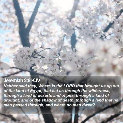 Jeremiah 2:6 KJV Bible Verse Image