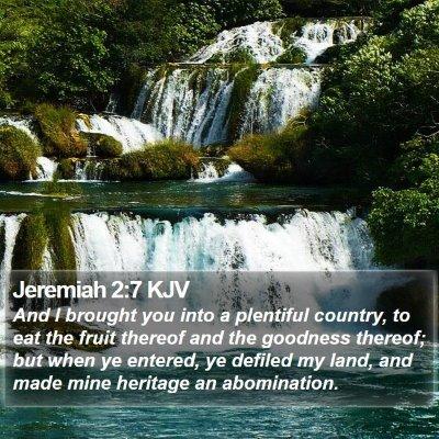 Jeremiah 2:7 KJV Bible Verse Image