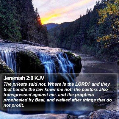 Jeremiah 2:8 KJV Bible Verse Image