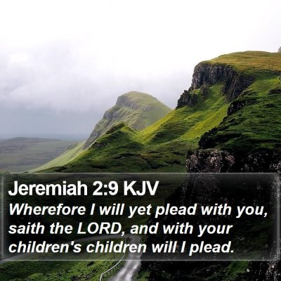 Jeremiah 2:9 KJV Bible Verse Image