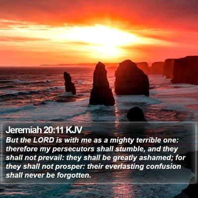 Jeremiah 20:11 KJV Bible Verse Image