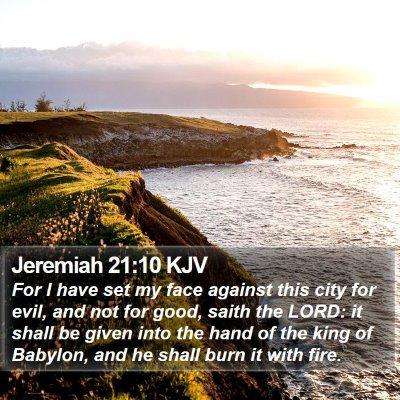 Jeremiah 21:10 KJV Bible Verse Image