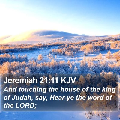 Jeremiah 21:11 KJV Bible Verse Image