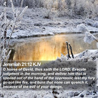 Jeremiah 21:12 KJV Bible Verse Image