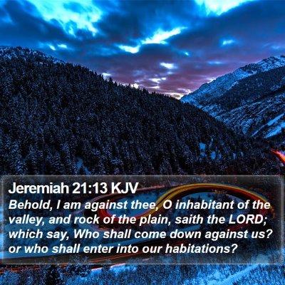 Jeremiah 21:13 KJV Bible Verse Image