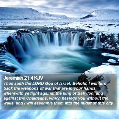 Jeremiah 21:4 KJV Bible Verse Image