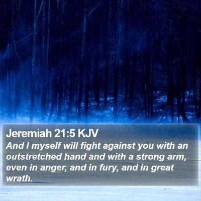 Jeremiah 21:5 KJV Bible Verse Image