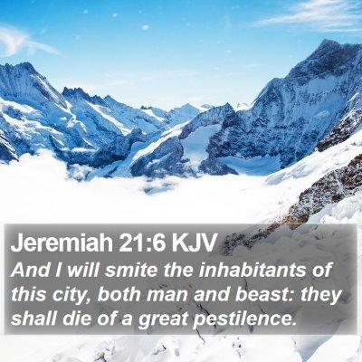 Jeremiah 21:6 KJV Bible Verse Image