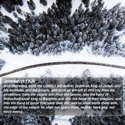 Jeremiah 21:7 KJV Bible Verse Image