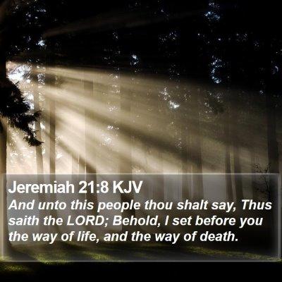 Jeremiah 21:8 KJV Bible Verse Image